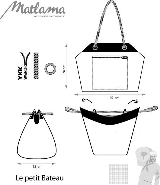 sac main matlama en voile de bateau. Black Bedroom Furniture Sets. Home Design Ideas